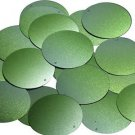 "Round Sequin 1.5"" Lime Green Ombre Semi Matte Metallic"
