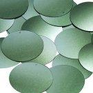 "Round Sequin 1.5"" Olive Green Ombre Semi Matte Metallic"