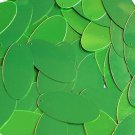 """Lime Green Fluorescent Shiny Metallic Sequins Oval 1.5"""" Large Couture Paillettes"""