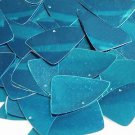 "Deep Turquoise Shiny Metallic Fishscale Fin 1.5"" Couture Sequin Paillettes"