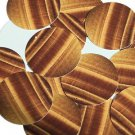"Round Sequin 1.5"" Tiger Eye Brown Gold Banding Opaque"