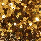 3mm Flat SEQUIN PAILLETTES ~ GOLD Metallic ~ Made in USA.