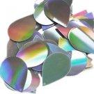 "Silver Lazersheen Reflective Sequins Teardrop 1.5"" Large Couture Paillettes"