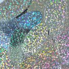 "Silver Hologram Multi Reflective Sequins Oval 1.5"" Large Couture Paillettes"