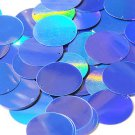Blue Lazersheen Metallic Sequin 40mm Round Couture Paillettes