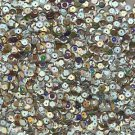 Cup Sequin 6mm Loose Silver Metallic Iris Rainbow Iridescent Made in USA