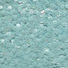 6mm Cup Sequins Pastel Blue Rainbow Iris Shiny Opaque. Made in USA