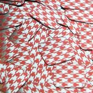 """Square Diamond Sequin 1.5"""" Red Silver Houndstooth Pattern Metallic"""