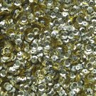 6mm Cup Sequins Gold Semi Matte. Made in USA