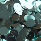 20mm Sequins Center Hole Aqua Blue Metallic. Made in USA