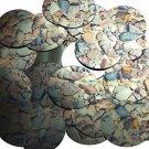"Round Sequin 1.5"" Brown Stone Rocks Pebbles Gravel Metallic"