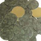 30mm Sequins Green Pine Leaf Bough Gold Metallic