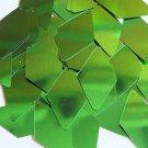 "Long Diamond Sequin 1.75"" Kelly Green Metallic"