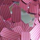 "Rectangle Sequin 1.5"" Red Pink Corrugated Stripe Metallic"