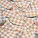 "Oval Sequin 1.5"" Orange Silver Houndstooth Pattern Metallic"
