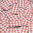 """Rectangle Sequin 1.5"""" Red Silver Houndstooth Pattern Metallic"""
