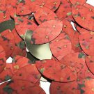 """Navette Leaf Sequin 1.5"""" Red Poinsettia Flowers Floral Metallic"""