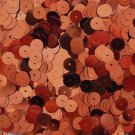 Copper SEQUINS 8mm flat PAILLETTES ~ Deep Copper Premium Metallic ~ Made in USA