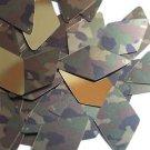 "Long Diamond Sequin 1.75"" Camo Brown Green Camouflage Gold Metallic"