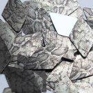 "Long Diamond Sequin 1.75"" Gray Black Snakeskin Reptile Pattern Metallic"