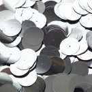 20mm Sequins Center Hole Hematite Shiny Gray Metallic. Made in USA
