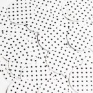 Round Sequin 30mm Black Polka Dot on White Opaque