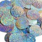 Silver Lazersheen Mosaic Sequin Round 30mm Couture Paillettes