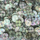10mm Flat SEQUIN PAILLETTE ~ SILVER PRISM MULTI Reflective METALLIC ~Made in USA