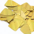 "Gold City Lights Metallic Fishscale Fin 1.5"" Couture Sequin Paillettes"