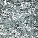 3mm Sequins Silver Matte Silk Frost. Made in USA