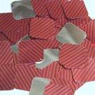 "Square Diamond Sequin 1.5"" Red Pink Corrugated Stripe Metallic"
