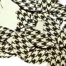 """Navette Leaf Sequin 1.5"""" Black Gold Houndstooth Pattern Metallic"""