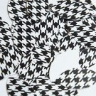 """Navette Leaf Sequin 1.5"""" Black White Houndstooth Pattern Opaque"""