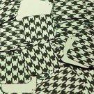 "Square Diamond Sequin 1.5"" Black Gold Houndstooth Pattern Metallic"