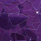 "Deep Purple Shiny Metallic Fishscale Fin 1.5"" Couture Sequin Paillettes"