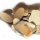 "Gold Shiny Metallic Sequins Oval 1.5"" Large Couture Paillettes"