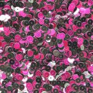 6mm Sequins Black / Fuchsia Pink Metallic. Made in USA