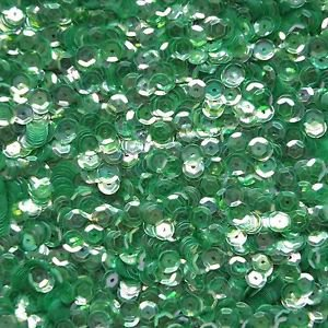 6mm Cup Sequins Green Crystal Rainbow Iris Iridescent. Made in USA