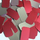 """Rectangle Sequin 1.5"""" Red Gold Matte Silk Frost Matte Silk Frost"""