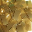 Caramel Gold Transparent Sequins Rectangle 1.5 inch Couture Paillettes