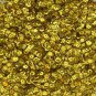 Cup Sequin 6mm Loose Yellow Laser Hologram Reflective Rainbow Made in USA