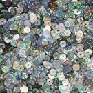 5mm Flat SEQUIN PAILLETTES ~ SILVER Multi Laser Hologram Metallic ~ Made in USA