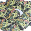 "Round Sequin 1.5"" Flower Meadow Garden Pink Yellow Purple Opaque"