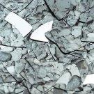 """Fishscale Fin Sequin 1.5"""" Gray Stone Rocks Pebbles Gravel Silver Metallic"""