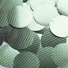 "Round Sequin 1.5"" Lime Green Silver Chevron Zig Zag Pattern Metallic"