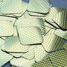 "Square Diamond Sequin 1.5"" Yellow Silver Chevron Zig Zag Pattern Metallic"