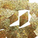 "Sequins Gold Glitter Hologram Metallic Long Diamond 1.75"" Large Paillettes"