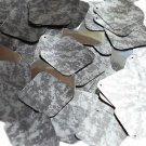 "Square Diamond Sequin 1.5"" Digi Ice Camo Camouflage Gray Black Metallic"