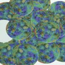 """Round Sequin 1.5"""" Thermal Planet Earth Green Blue Jewel Opaque"""