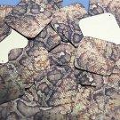 "Square Diamond Sequin 1.5"" Gold Brown Snakeskin Reptile Pattern Metallic"